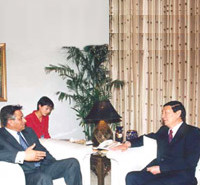 Meeting Zhu Rongji
